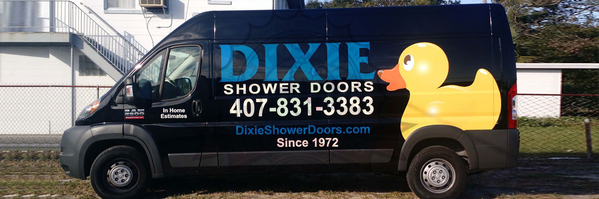 Dixie Showe Doors Vehicle Lettering and Graphics