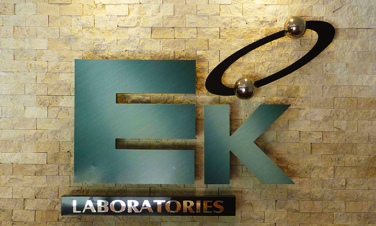 EK Labs Custom Interior Wall Sign with Standoffs