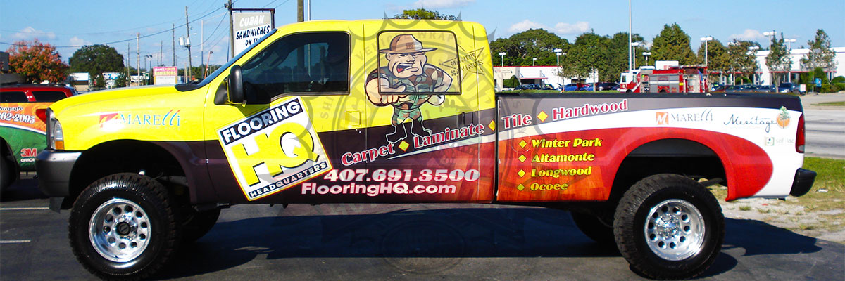 Flooring HQ Pickup Truck Wrap