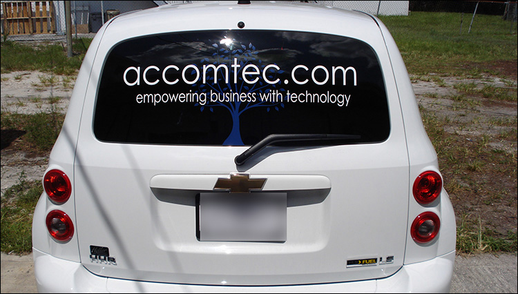 Accomtec Vehicle Lettering