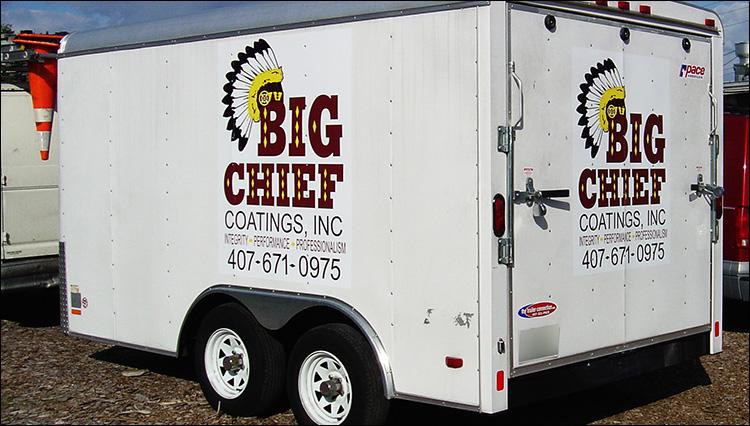 Big Chief Coatings Trailer Graphics