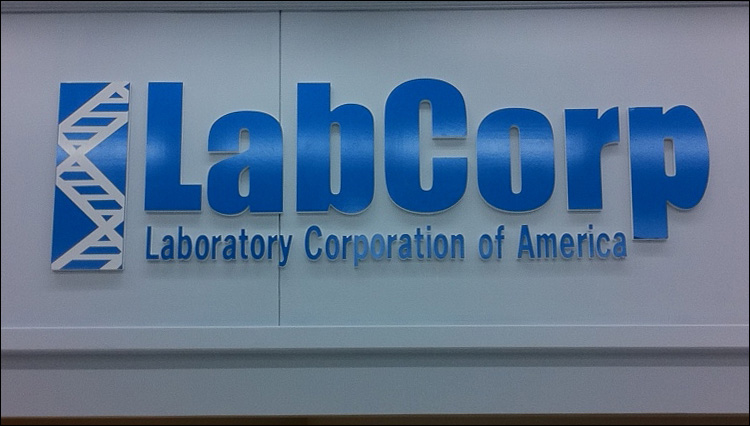 LabCorp Dimensional Wall Sign