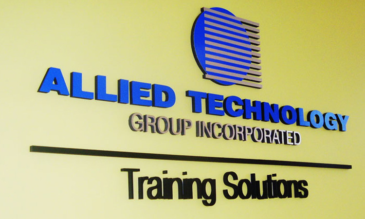 Allied Technology Wall Lettering