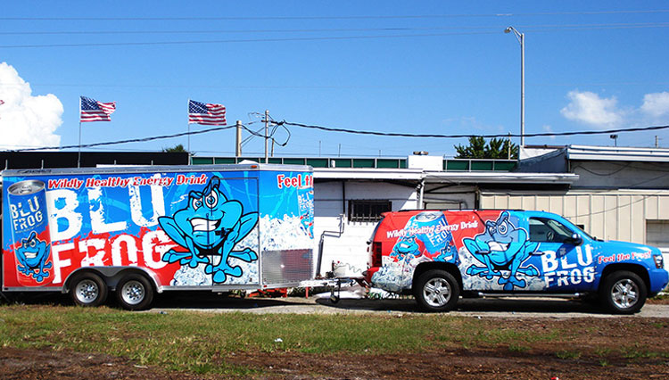 Blu Frog Truck and TRailer Wrap